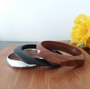 3PC Beautiful Authentic African Bangle Bracelet Se